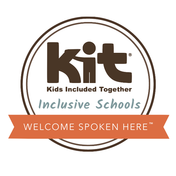 KIT Inclusive Schools Logo says Welcome Spoken Here