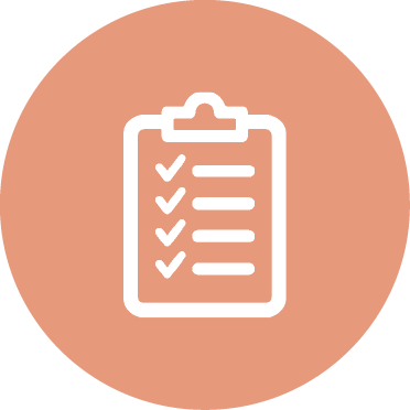 icon of a checklist on a clipboard