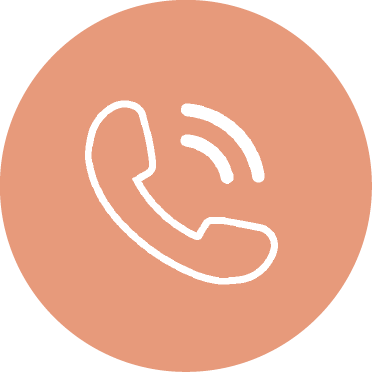 icon of a telephone handset with lines coming off it