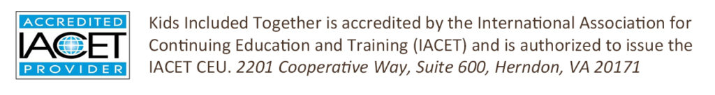 KIT is accredited by the international association for continuing education and training.