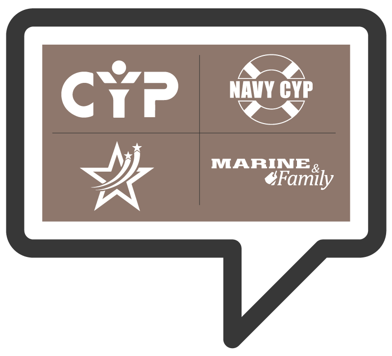 4 logos for each military branch child and youth services