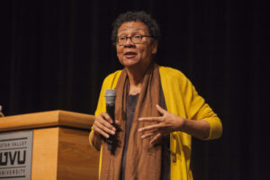 bell hooks speaking to audience